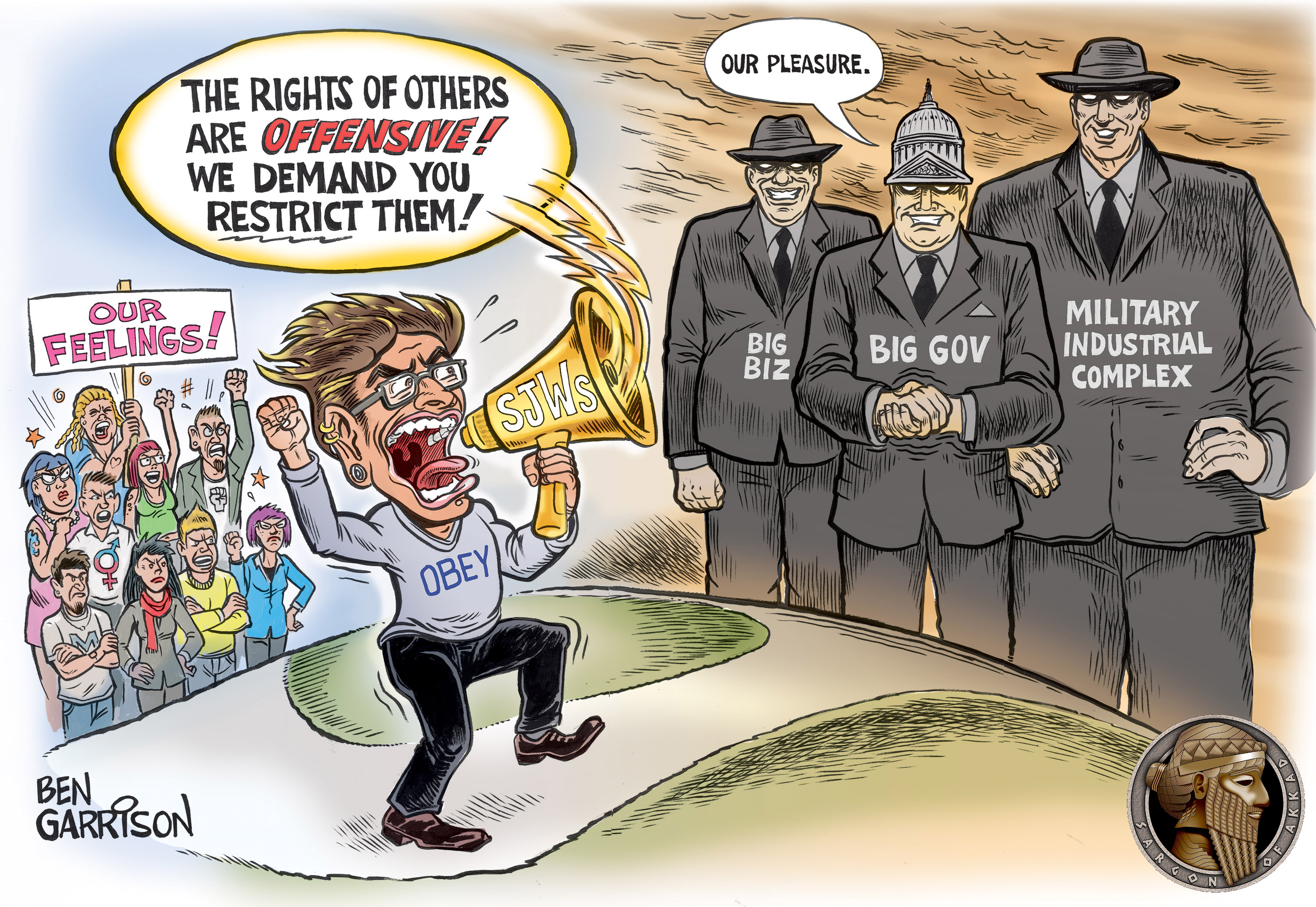 useful idiots by ben garrison the rationalists