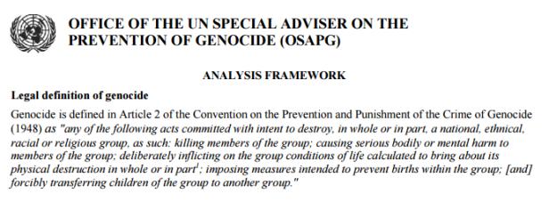Genocide Definition